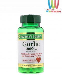 Tinh dầu tỏi nguyên chất tốt cho tim mạch Nature's Bounty Garlic 2000mg 120 viên