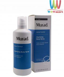 Toner xịt trị mụn toàn thân Murad Clarifying Body Spray 130ml