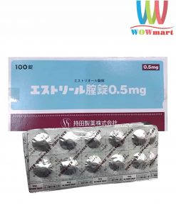 Viên nén đặt chữa viêm âm đạo se khít EStoril 0.5mg Nhật Bản hộp 100 viên