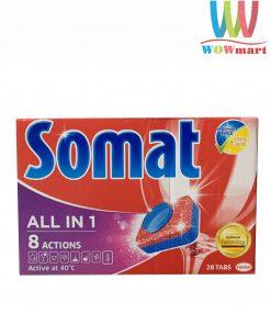 Viên rửa chén Somat All in 1 8 Actions 28 viên