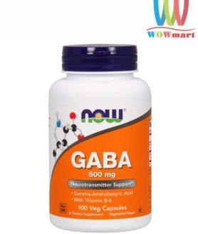 Viên uống bổ não, giảm stress Now GABA 500mg 100 viên