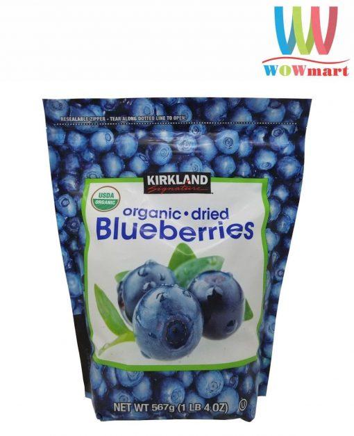 Việt Quất sấy khô Kirkland Signature Organic Dried Blueberries 567g