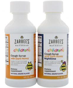 Siro trị ho cho trẻ từ 1-12 tuổi Zarbee's Cough Syrup Day & Night 118ml x2 chai