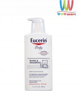 Sữa tắm gội cho bé Eucerin Baby Wash Shampoo 400ml