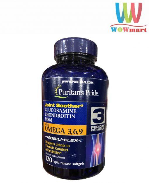 Viên uống bổ khớp Puritan's Pride Glucosamine Chondroitin MSM Omega 3,6,9 120 viên