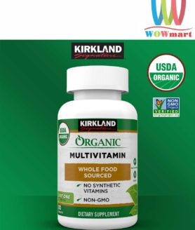 Viên uống bổ sung đa vitamin hữu cơ Kirkland Signature Organic Multivitamin 80 viên
