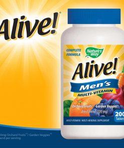 Viên uống bổ sung vitamin cho nam giới Alive! Men's Multivitamin 200 viên