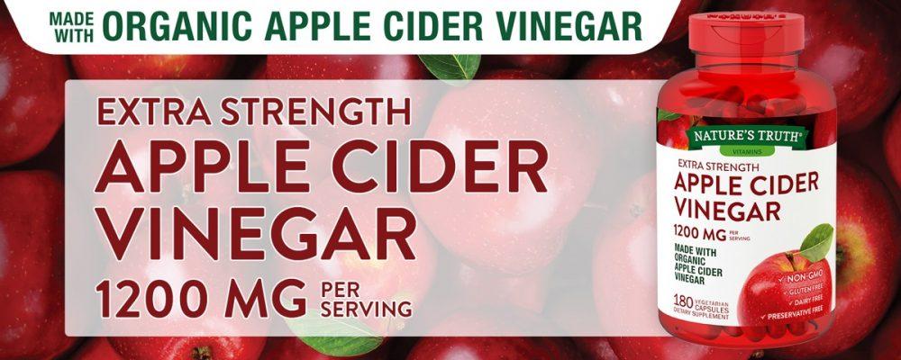 Viên giấm táo hữu cơ Nature's Truth Apple Cider Vinegar 1200mg 180viên