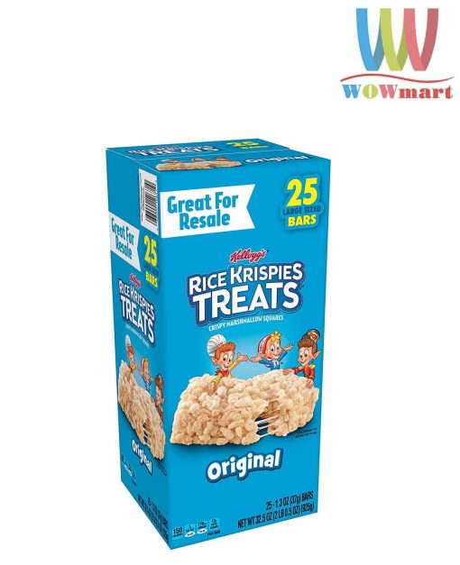 Banh gao Kelloggs Rice Krispies Treats 25 goi x 37g 925g