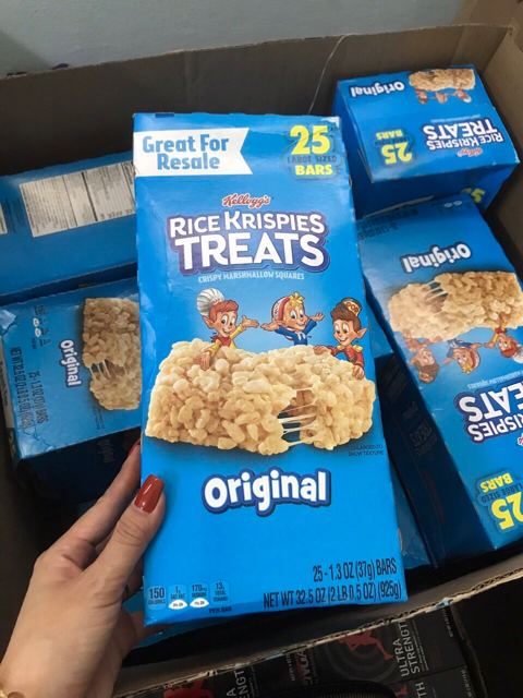 Banh gao Kelloggs Rice Krispies Treats 25 goi x 37g 925g1