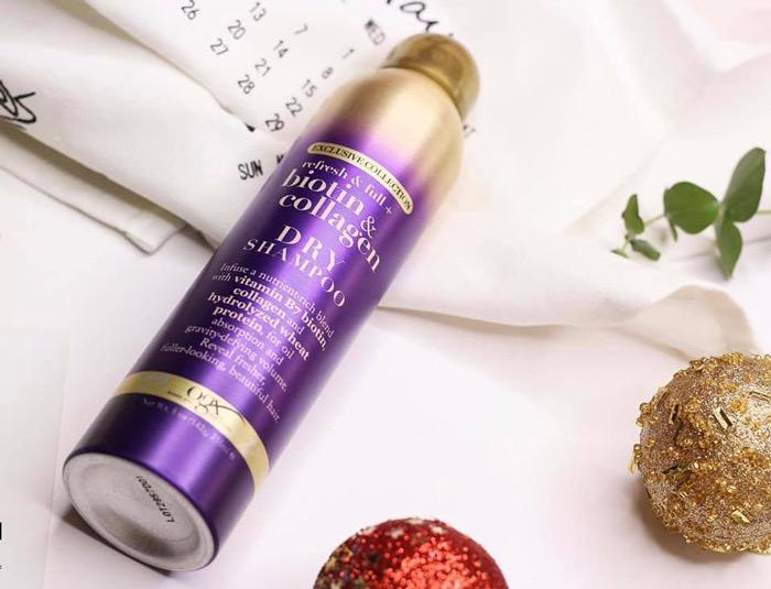 Dầu Gội Khô OGX Exclusive Collection Biotin & Collagen Dry Shampoo 235ml