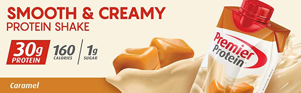 Sữa Premier Protein vị Caramel Protein Shake 12 hộp x 325ml