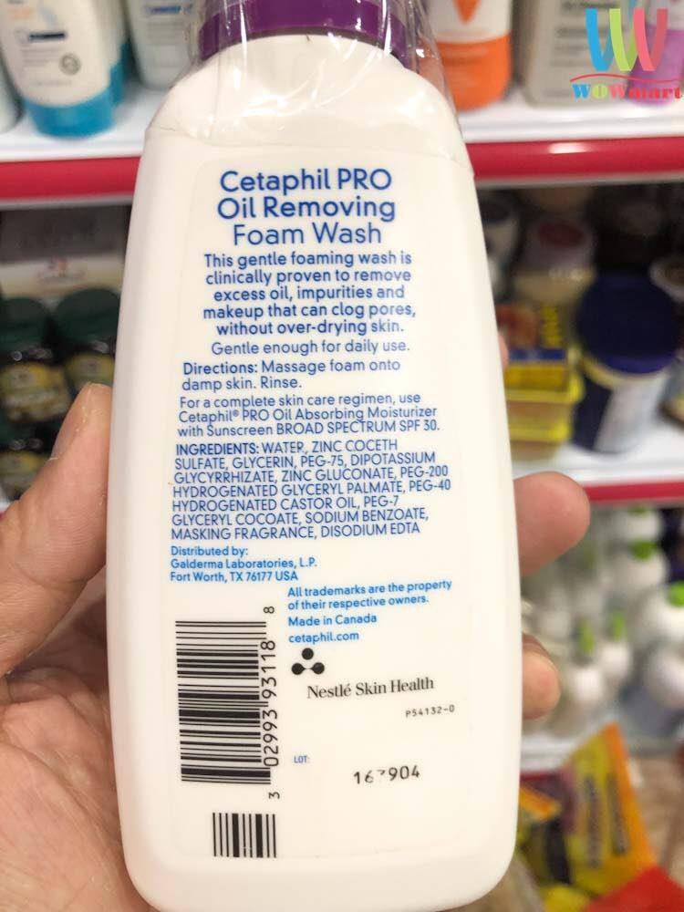 Sữa rửa mặt bọt cho da dầu Cetaphil Pro Oily Skin 237ml
