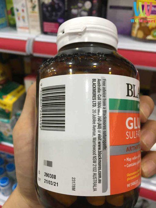 Vien uong bo khop Blackmore Glucosamine Sulfate 1500 Arthritis Pain Relief 90vien2