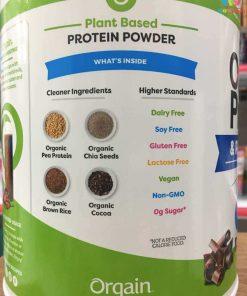 bot protein huu co orgain organic protein amp superfoods 1242g vi socola 1190