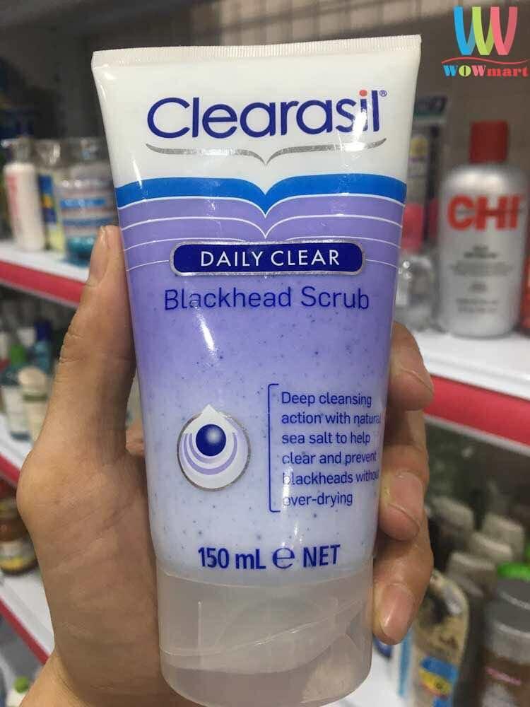 Sữa rửa mặt tẩy tế bào chết mụn đầu đen Clearasil Daily Clear Blackhead Scurb 150ml