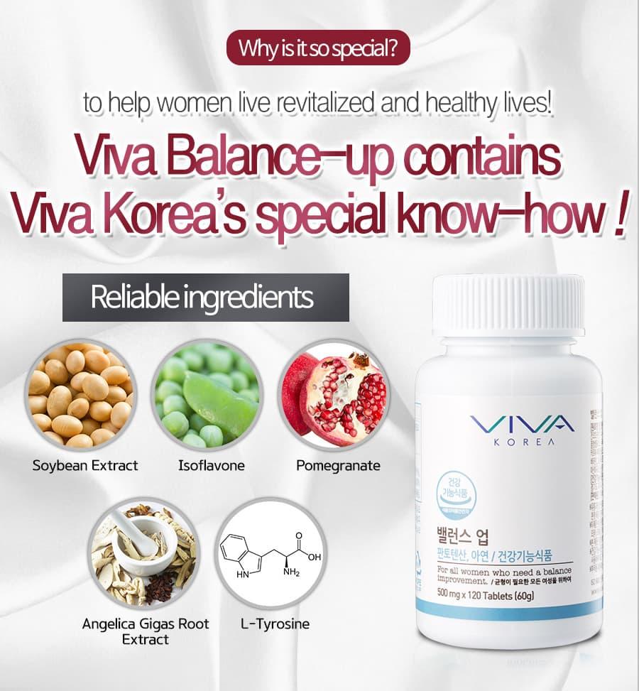Viên uống cân bằng nội tiết tố nữ Viva balance up Upgrades 500mg 120 viên