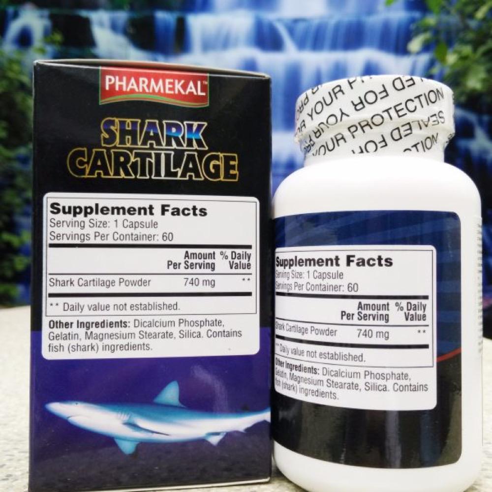 Viên uống phục hồi và tái tạo mô sụn khớp Shark Cartilage Pharmekal 100 viên