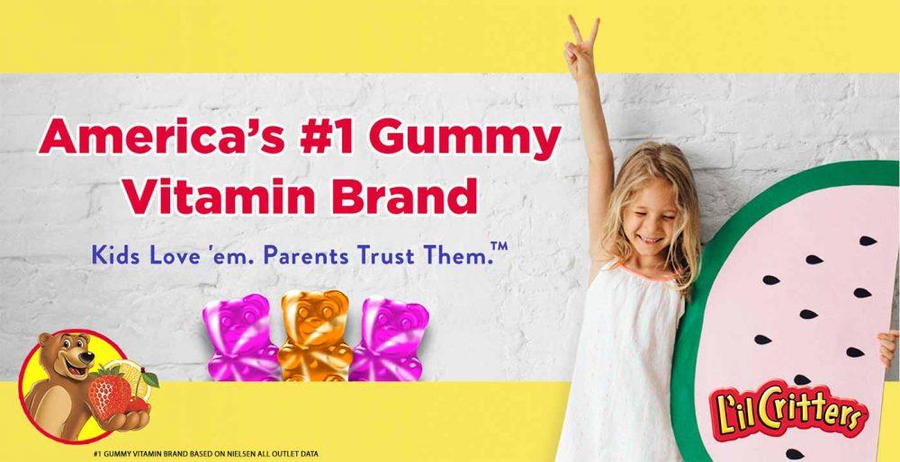 Kẹo gấu bổ sung Canxi cho trẻ em L'il Critters Calcium +D3 250 Gummies