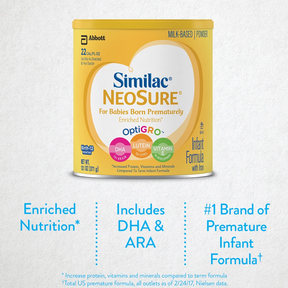 Sữa bột Similac cho trẻ sinh non Similac Expert Care Neosure 646g