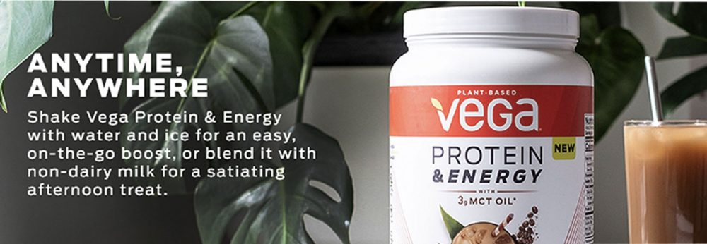 Bột Protein tăng năng lương Vega Protein & Energy with 3g MCT Oil Cold Brew Coffee 876g
