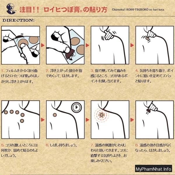 Cao dán giảm đau nội địa Nhật Bản Roihi Tsuboko 156 miếng