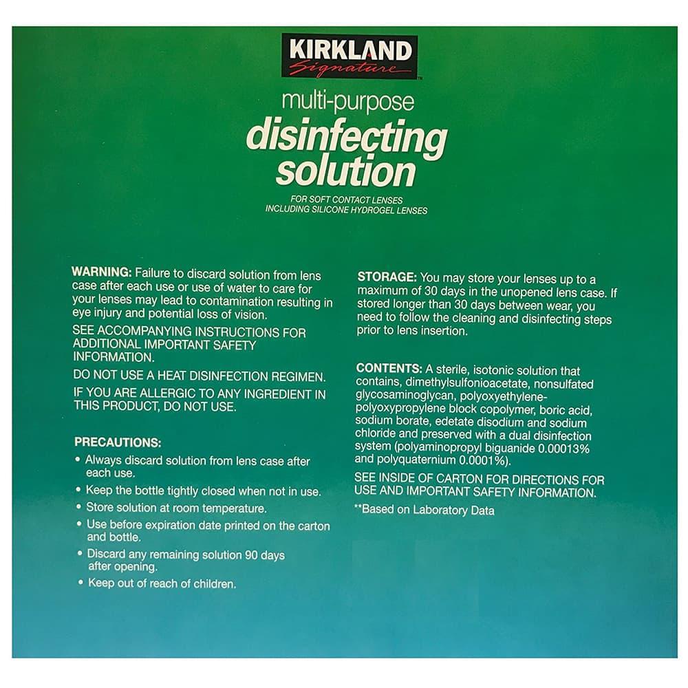 Dung dịch khử trùng đa năng Kirkland Signature Purpose Disinfecting Solution Bộ 3x473ml
