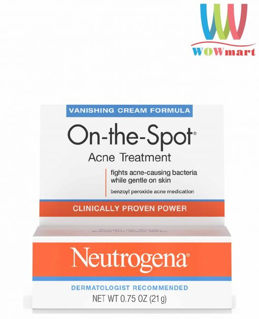 kem tri mun neutrogena on the spot acne treatment clinically proven power 21g