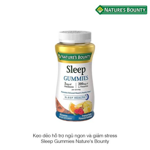 keo deo giup ngu ngon natures bounty sleep health gummies 60 vien 2