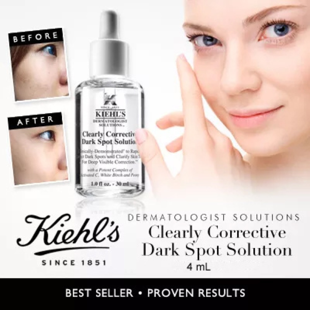 Serum làm sáng da, trị thâm nám KIEHL'S Clearly Corrective Dark Spot Solution 30ml