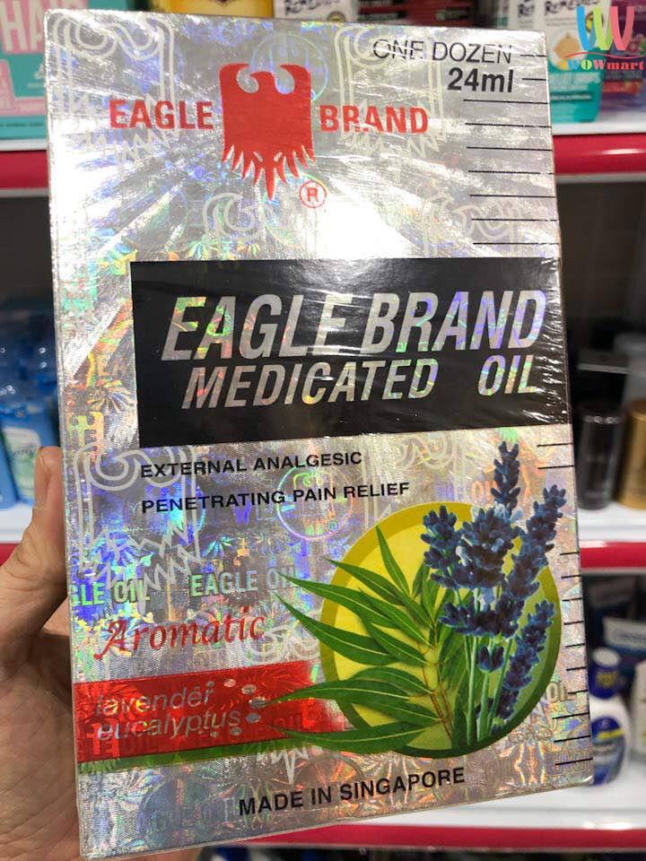 Dầu gió trắng Con Ó của Mỹ Eagle Brand Medicated Oil Lavender 24ml (Lốc 24ml x12 chai)