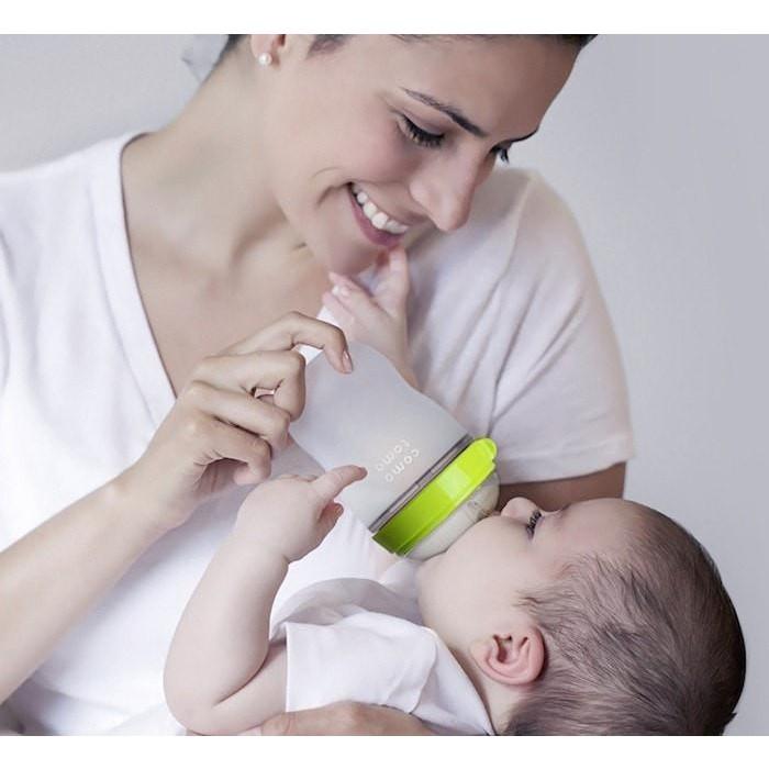 Bình sữa Silicone Comotomo Baby Bottle Soft Hygienic Silicone Set 250mlx2