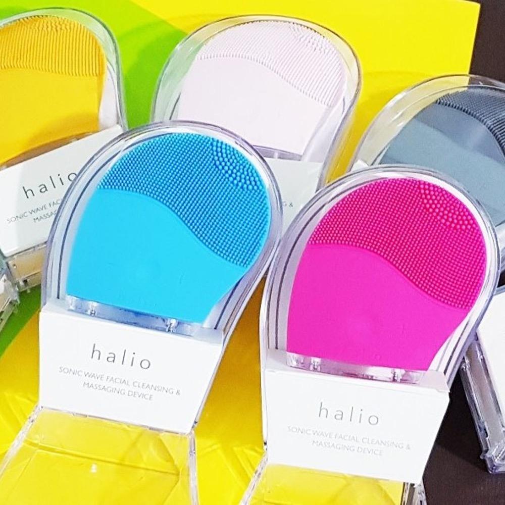 Máy rửa mặt Halio Facial Cleasing & Massage Device (Xanh)