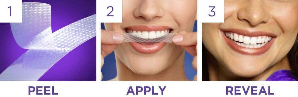 Miếng dán trắng răng Crest 3D Whitestrips Dental Whitening Kit 28 miếng