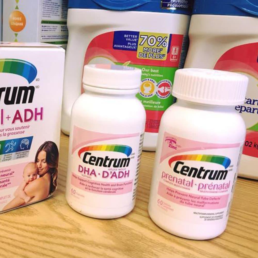 Vitamin cho bà bầu Centrum Prenatal + DHA Complete Multivitamin 60 viên x2