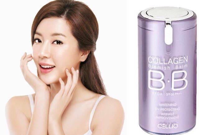 Kem nền chống nắng BB Collagen Blemish Balm Cellio SPF40 PA+++ 40ml