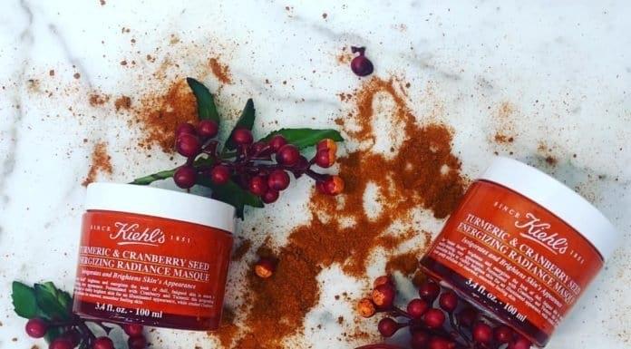Mặt nạ nghệ và nam việt quốc dưỡng sáng da KIEH'S Turmeric & Cranberry Seed 100ml