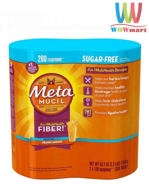 Metamucil Sugar Free Orange Smooth 53.2 oz Bottle Pack of 2 260 doses 1