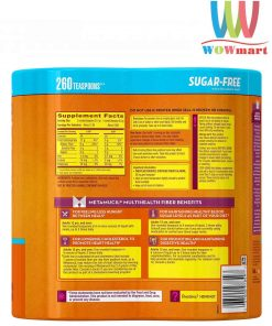Metamucil Sugar Free Orange Smooth 53.2 oz Bottle Pack of 2 260 doses 2