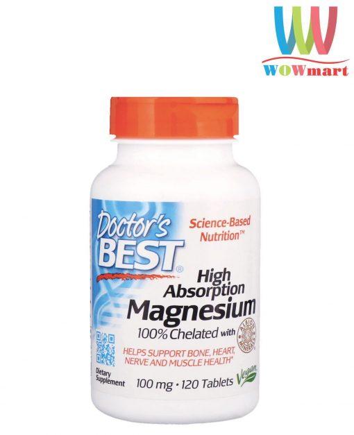 Vien uong bo sung magie Doctors Best High Absorption 100mg 120 vien