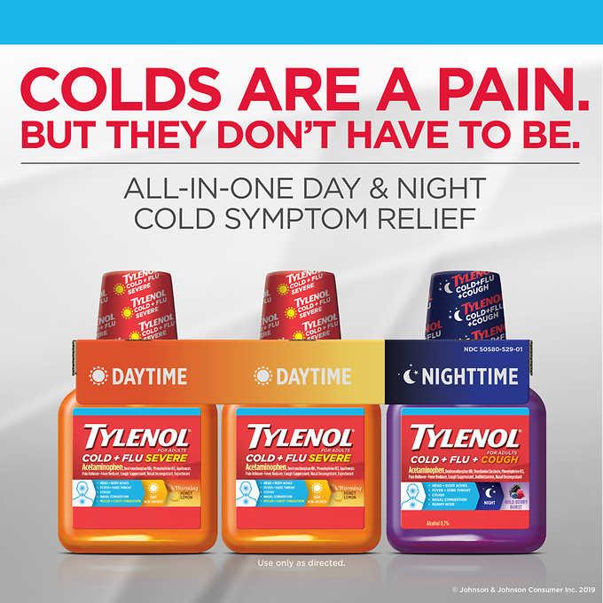 Siro giảm đau hạ sốt Tylenol Cold + Ful Severe 240ml x3