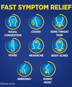 Theraflu Multi Symptom Nighttime Severe Cold Cough 24 Powder Packets 4
