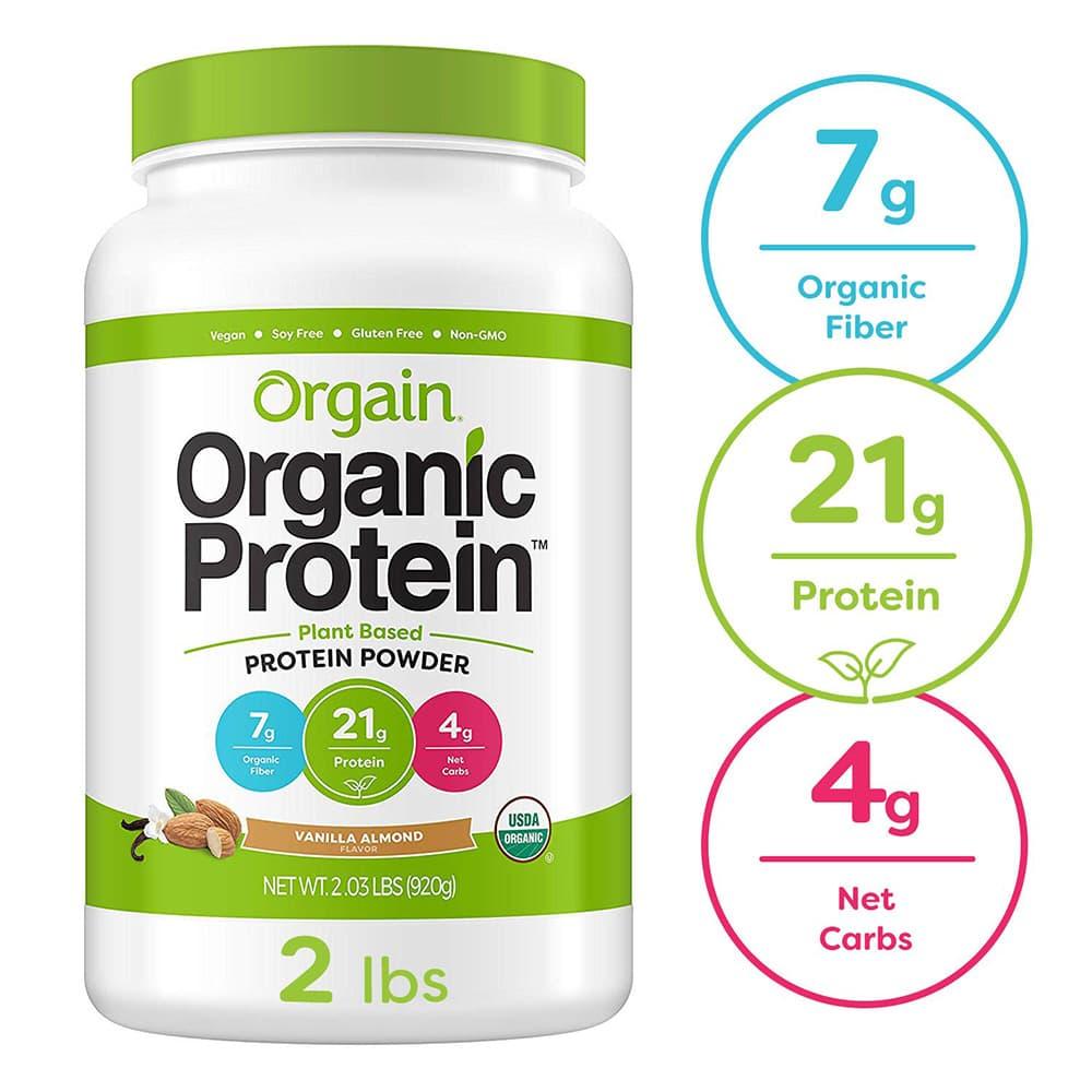 Bột Protein hữu cơ Orgain Organic Protein 920g huơng vani hạnh nhân