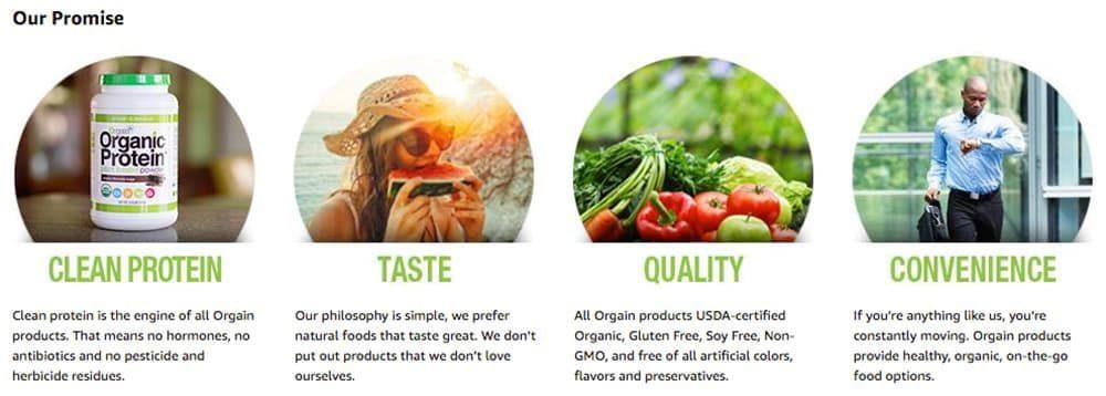 Bột Protein thực vật hữu cơ Orgain Organic Protein Greens 882g hương vani