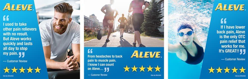 Viên uống giảm đau nhức Aleve Pain Reliever 220mg 80 viên x2 hộp