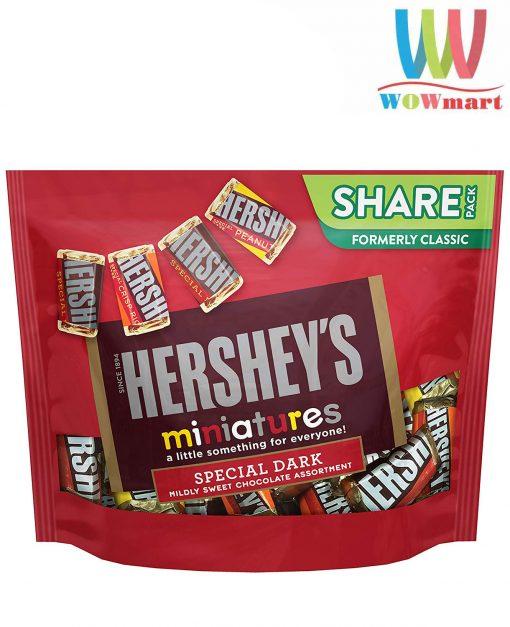socola hershey mix 4 vi hersheys miniatures special dark chocolate 286g k