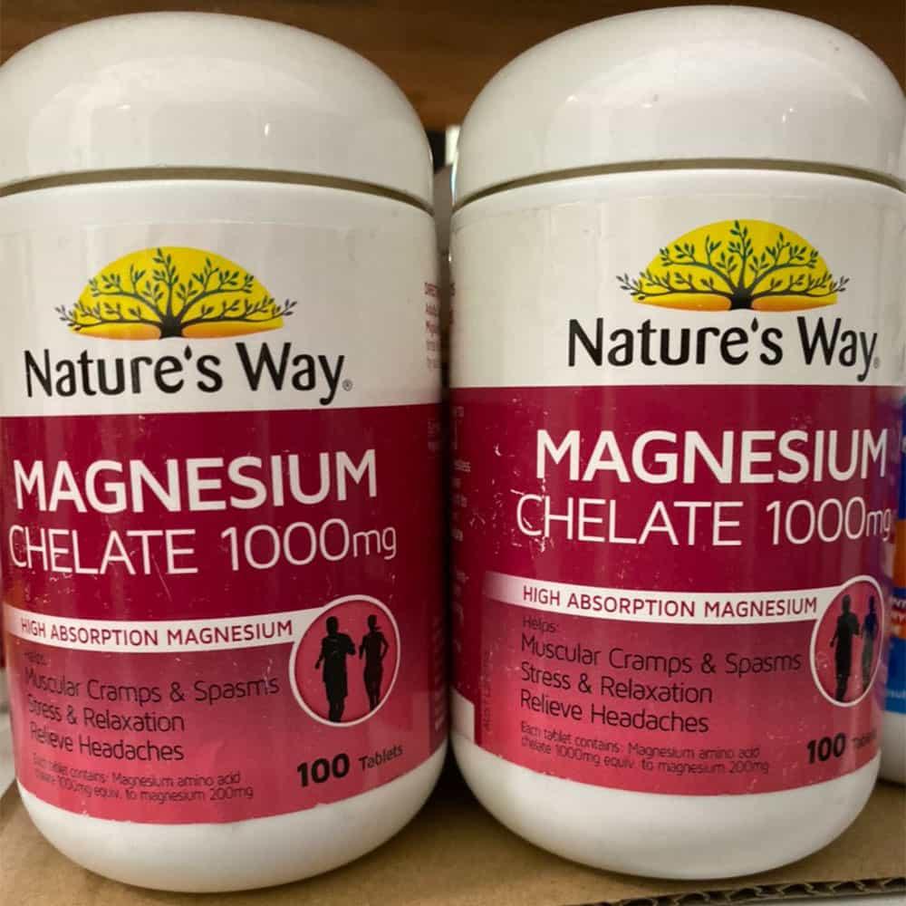 Viên uống bổ sung Magiê Nature's Way Magnesium Chelate 1000mg 100 viên