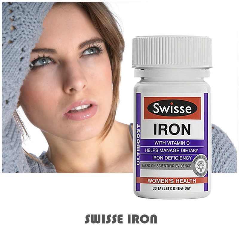 Viên uống bổ sung sắt Swisse Iron 30 viên