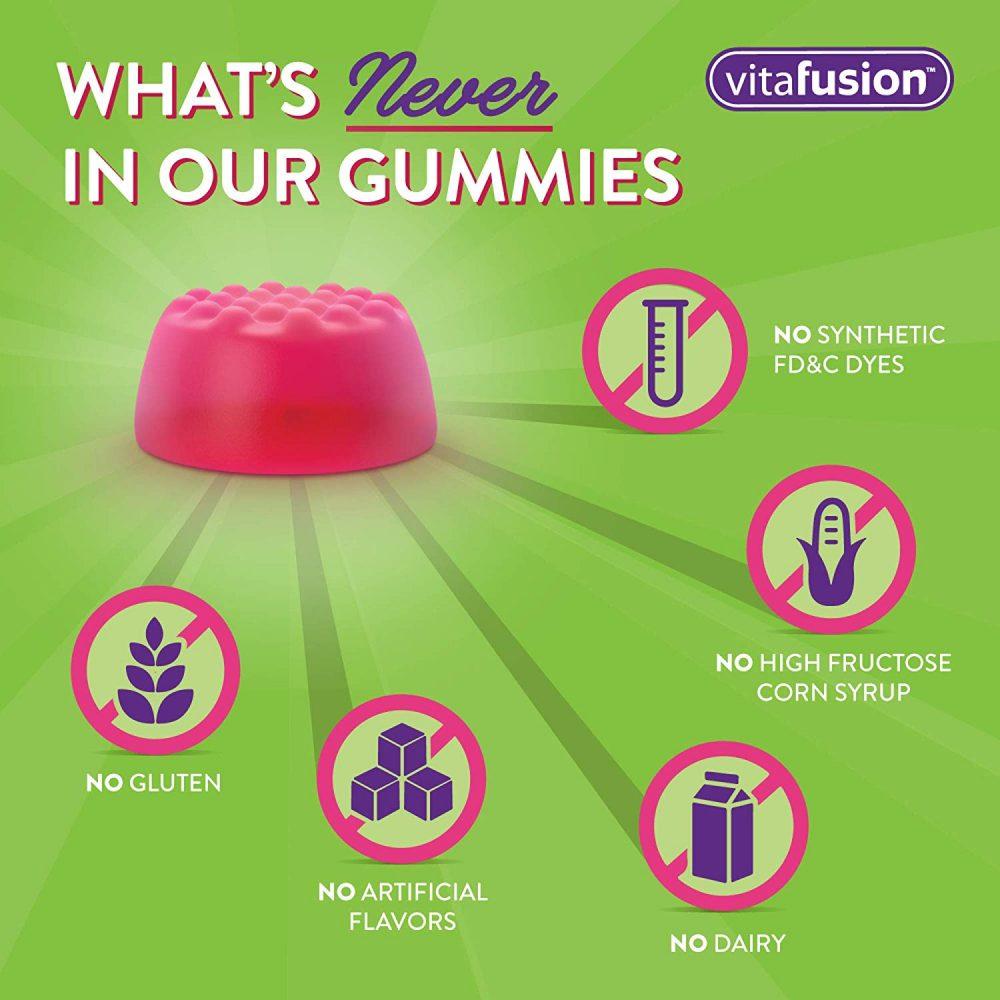 Kẹo dẻo hỗ trợ giấc ngủ ngon Vitafusion Melatonin Extra Strength 5mg 120 viên vị berry