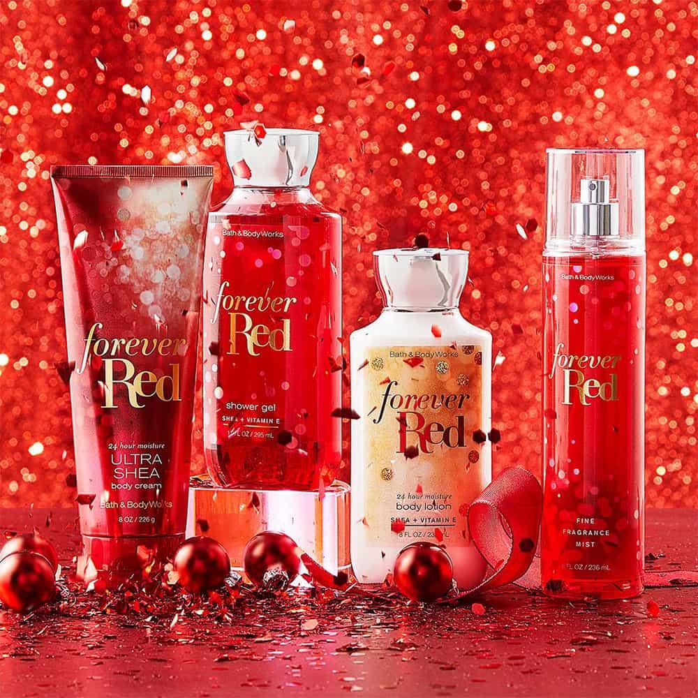 Set tắm dưỡng xịt thơm Bath & Body Works Forever Red